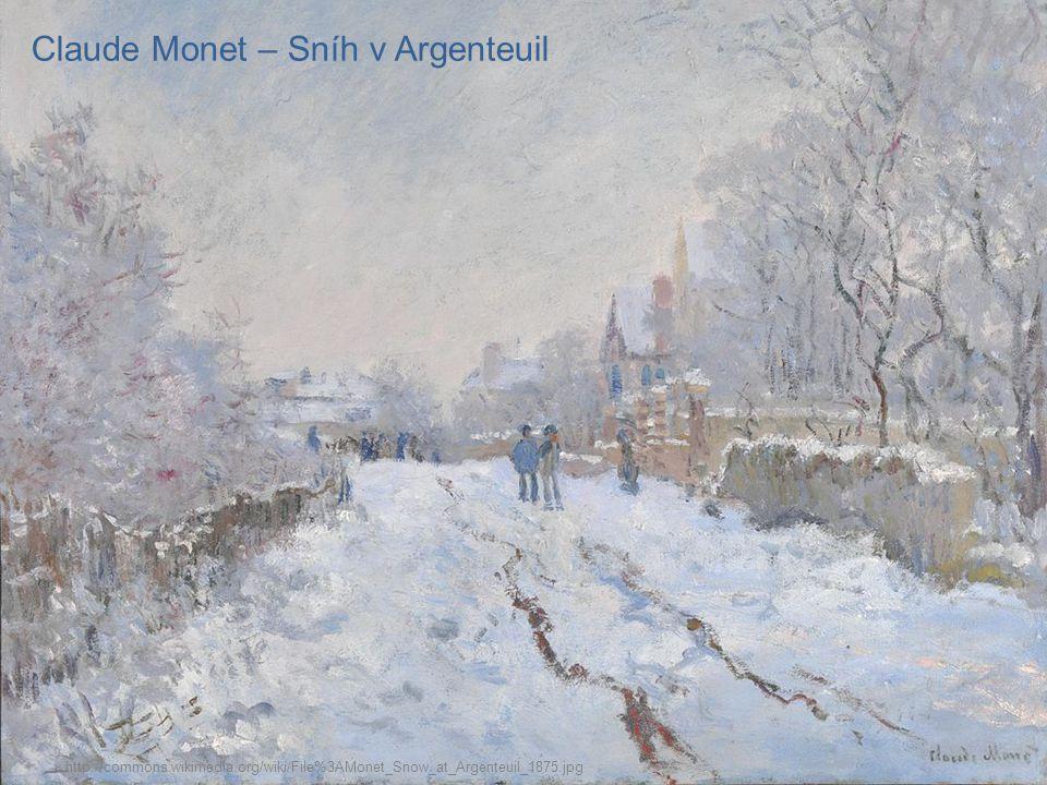 Richard Jakopič – Ve sněhu http://commons.wikimedia.org/wiki/File%3ARihard_Jakopi%C4%8D_-_Kamnitnik_v_snegu.jpg