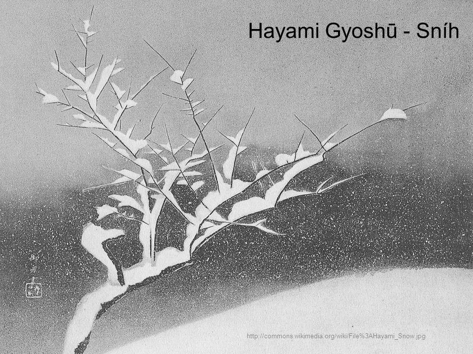 Hayami Gyoshū - Sníh http://commons.wikimedia.org/wiki/File%3AHayami_Snow.jpg
