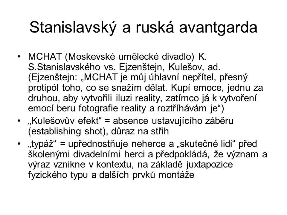Stanislavský a ruská avantgarda MCHAT (Moskevské umělecké divadlo) K.
