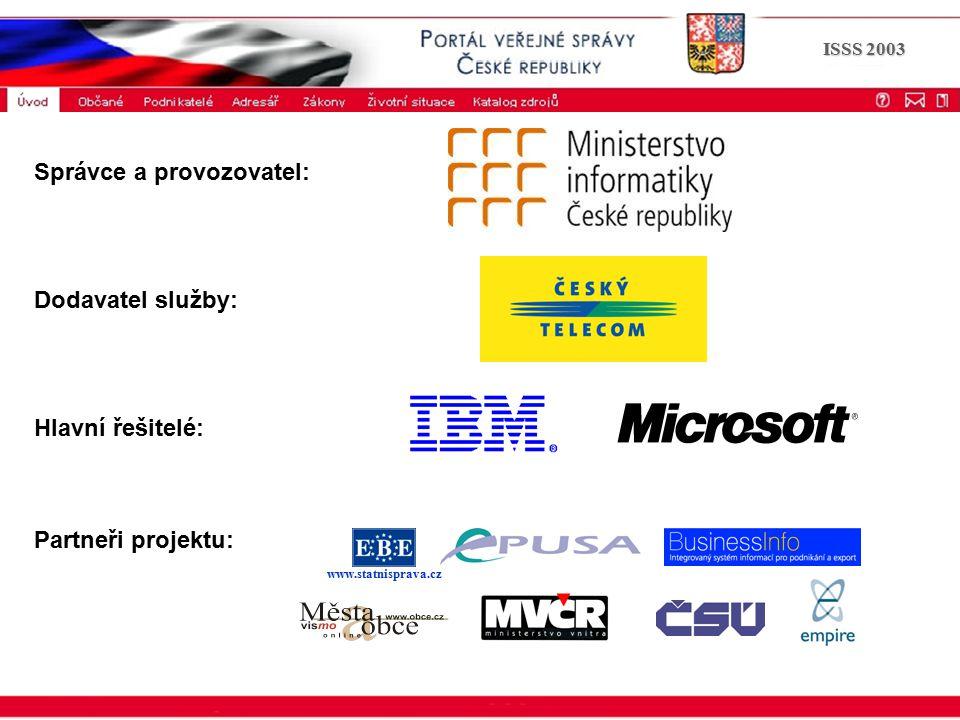 Portál veřejné správy © 2002 IBM Corporation ISSS 2003 příklad e-agendy ePUSA SDZA MIVS- popisy životních situací Elektronické a papírové formuláře Elektronická podatelna DMS Spisová služba Např.