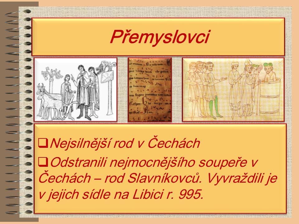 Počátky Přemyslovců Mgr.Miloslava Pucandlová ZŠ Sadová 1756, Čáslav Mgr.
