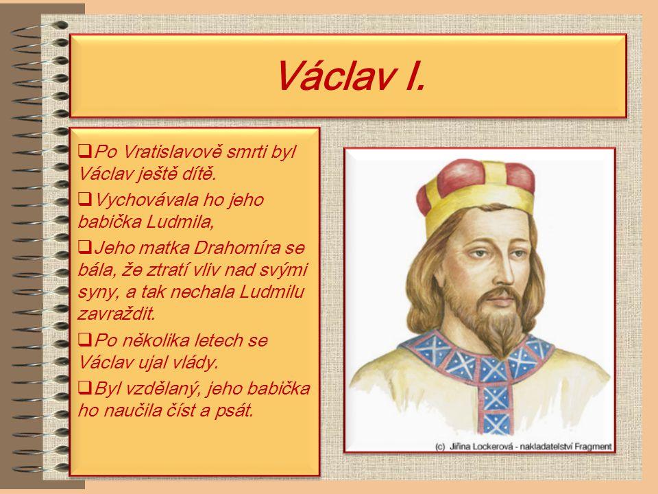 Spytihněv a Vratislav I. Po Bořivojově smrti se vlády ujal jeho syn Spytihněv.
