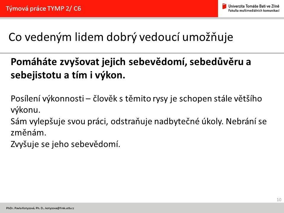 10 PhDr. Pavla Kotyzová, Ph.