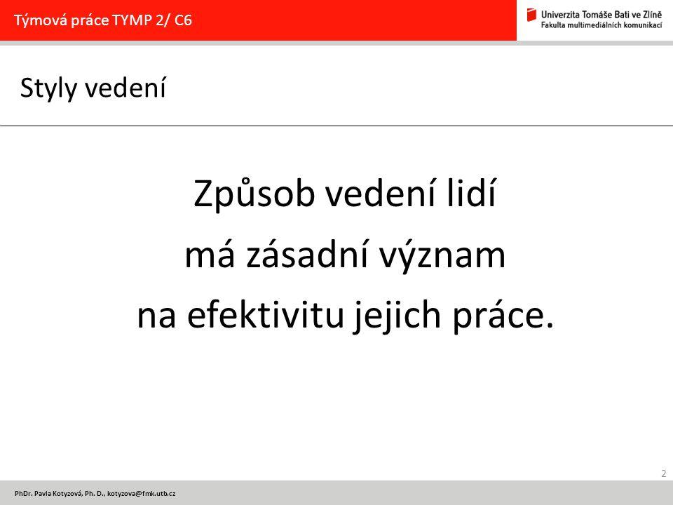 2 PhDr. Pavla Kotyzová, Ph.