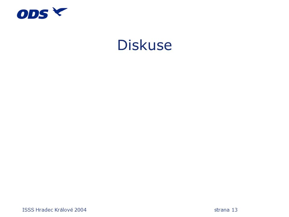 ISSS Hradec Králové 2004 strana 13 Diskuse