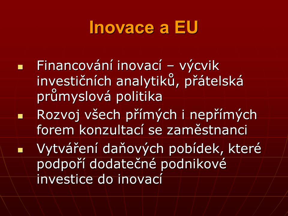 Inovace a EU Financování inovací – výcvik investičních analytiků, přátelská průmyslová politika Financování inovací – výcvik investičních analytiků, p