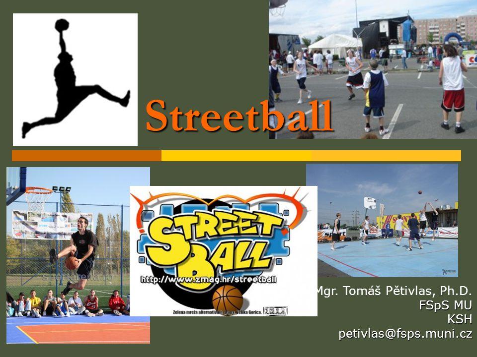 Streetball Mgr. Tomáš Pětivlas, Ph.D. FSpS MU KSHpetivlas@fsps.muni.cz