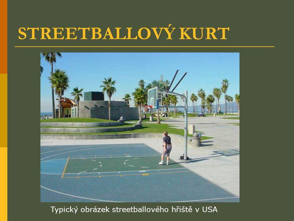 STREETBALLOVÝ KURT Typický obrázek streetballového hřiště v USA