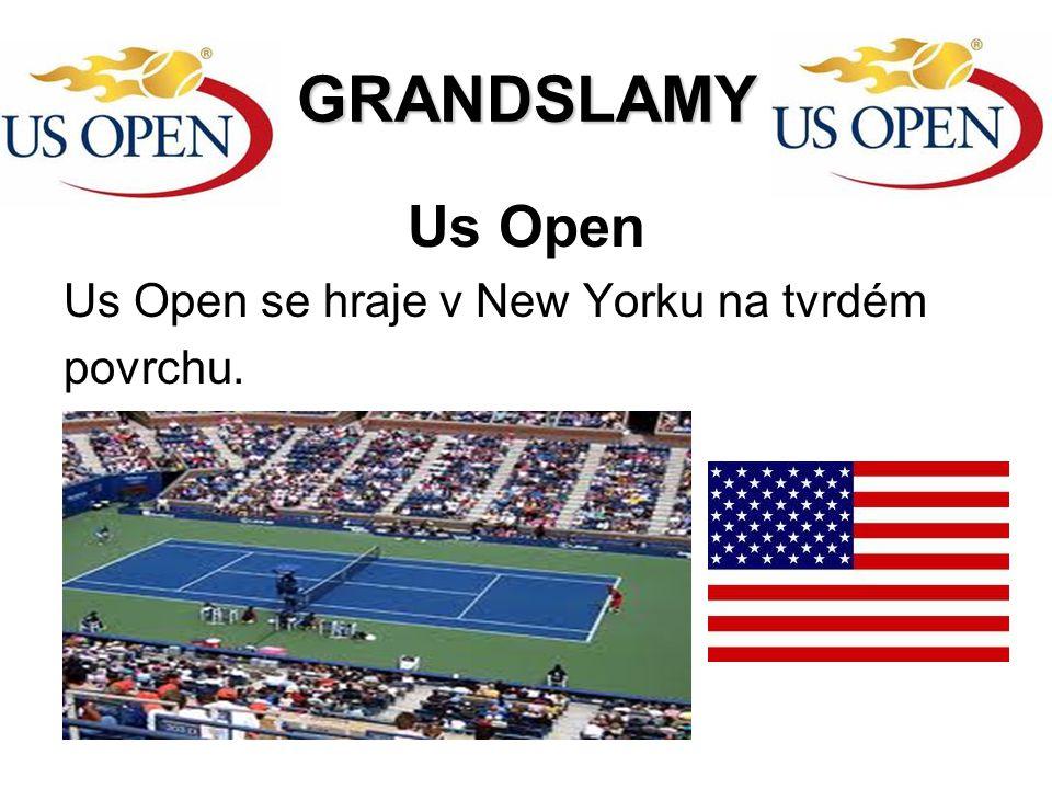 GRANDSLAMY Us Open Us Open se hraje v New Yorku na tvrdém povrchu.