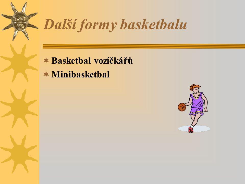 Další formy basketbalu  Basketbal vozíčkářů  Minibasketbal