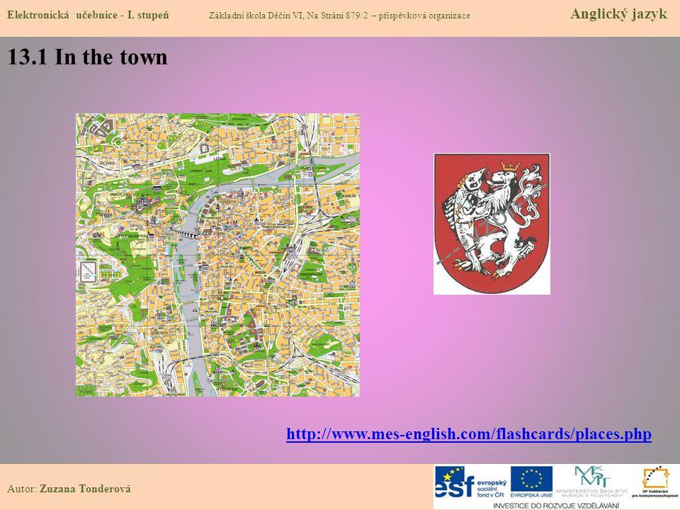 13.1 In the town Elektronická učebnice - I.