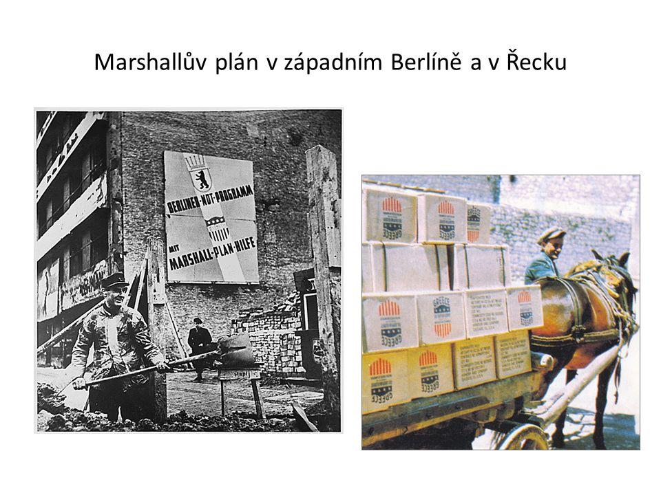 Marshallův plán v západním Berlíně a v Řecku