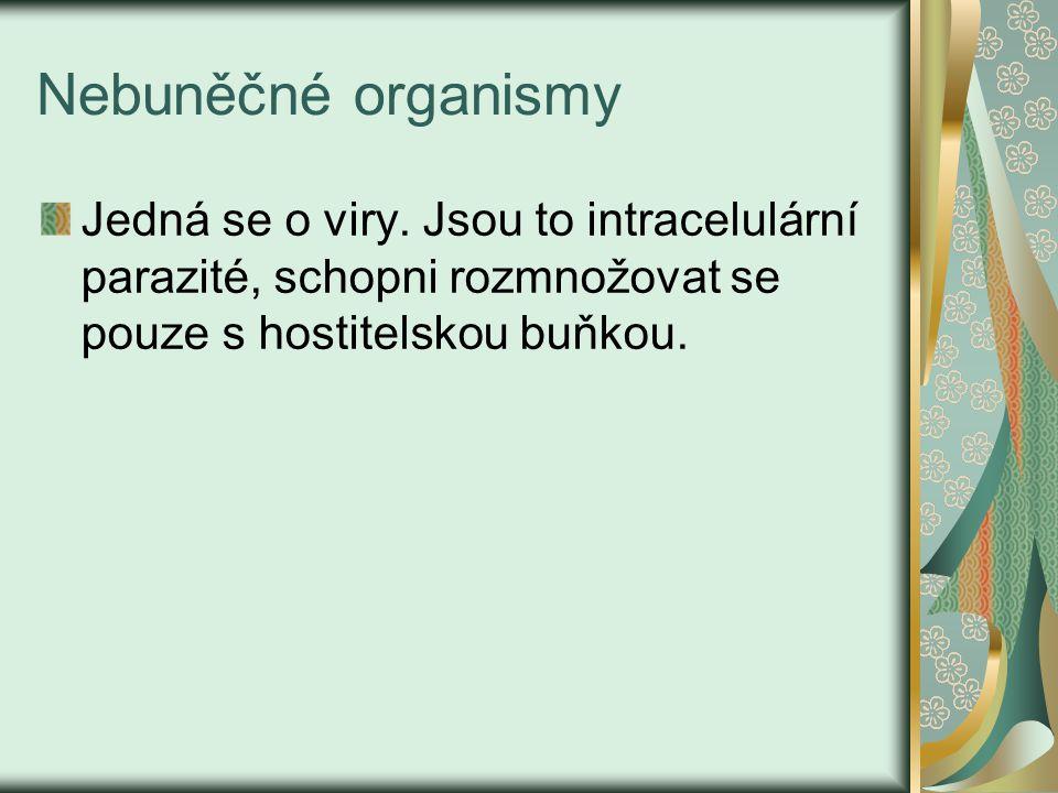 Nebuněčné organismy Jedná se o viry.