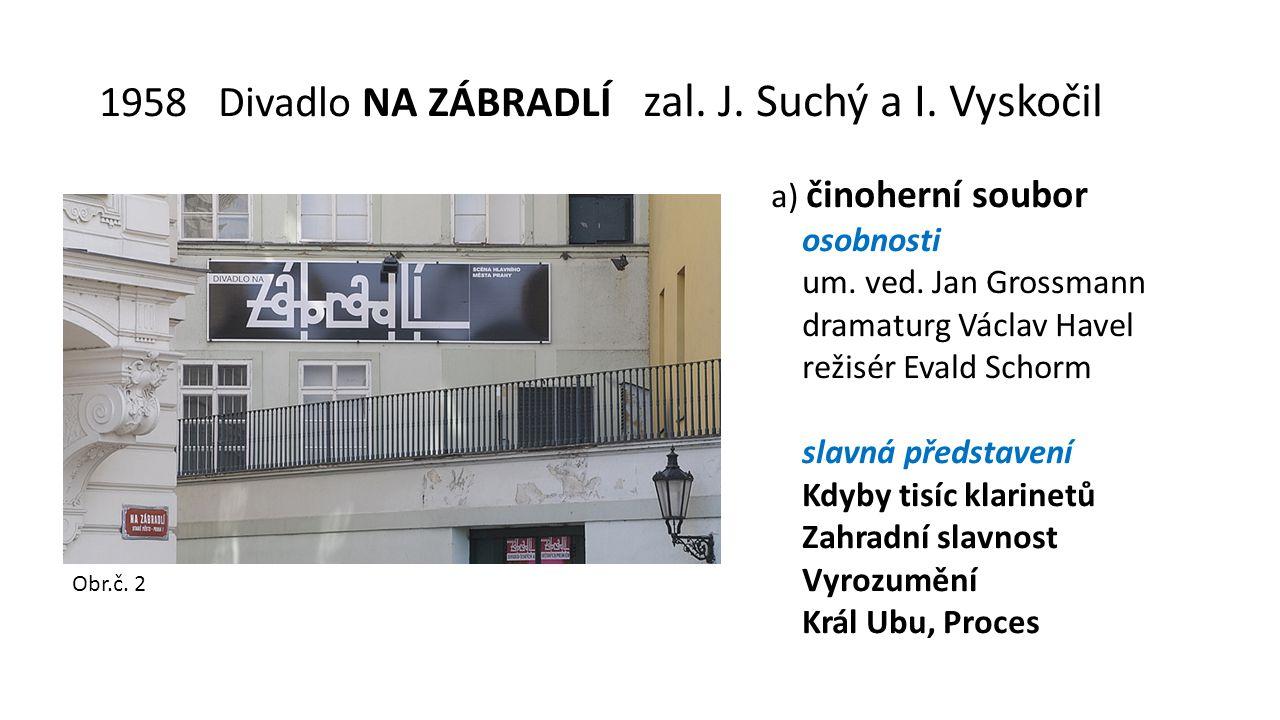 1958 Divadlo NA ZÁBRADLÍ zal. J. Suchý a I. Vyskočil a) činoherní soubor osobnosti um.