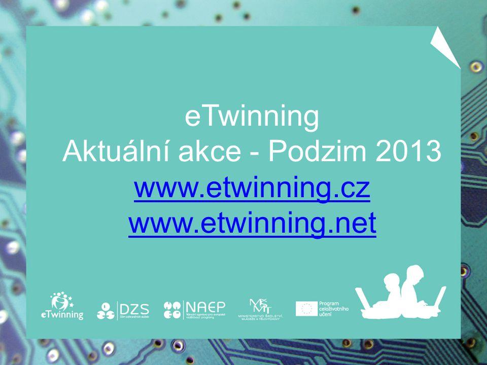 eTwinning - on-line spolupráce škol Aktivitu eTwinning, podporující virtuální propojení evropských škol pomocí informačních a komunikačních technologií, aktivně využívá: v Evropě 180 000 učitelů / 4 700 v ČR.