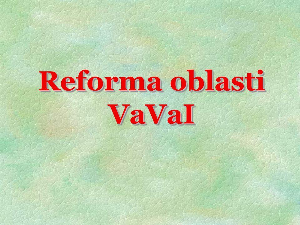 Reforma oblasti VaVaI