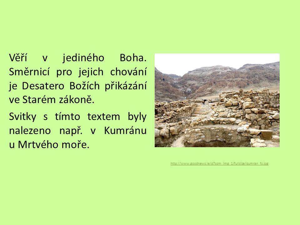 Zápis Vznik starého Izraele Nejstarší město - Jericho Monoteismus – věří v jednoho Boha Bible – Starý zákon – Desatero Kumrán