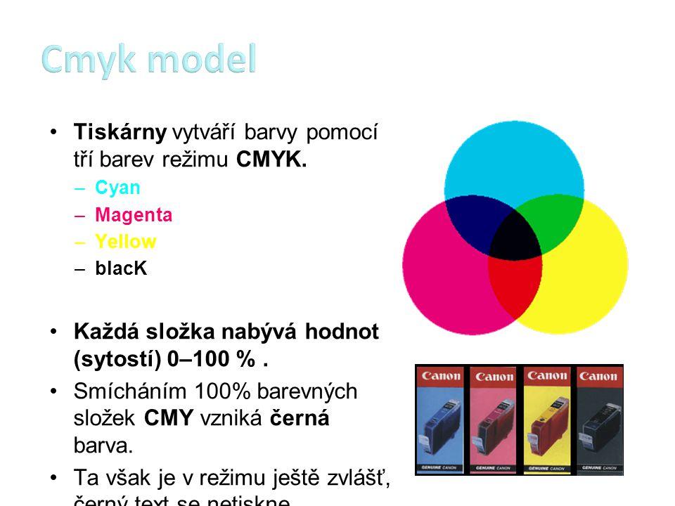 Již víme, že monitory vytvářejí barvy v režimu RGB a tiskárny v režimu CMYK, navíc všechna zařízení jsou nedokonalá.