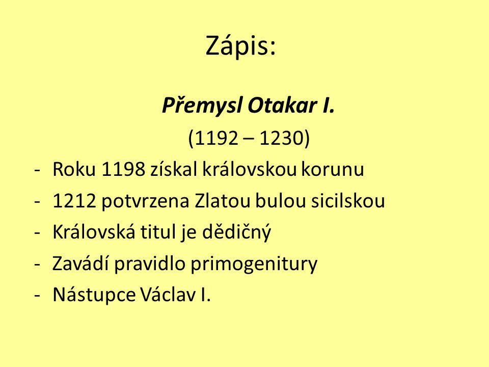 Přemysl Otakar I.