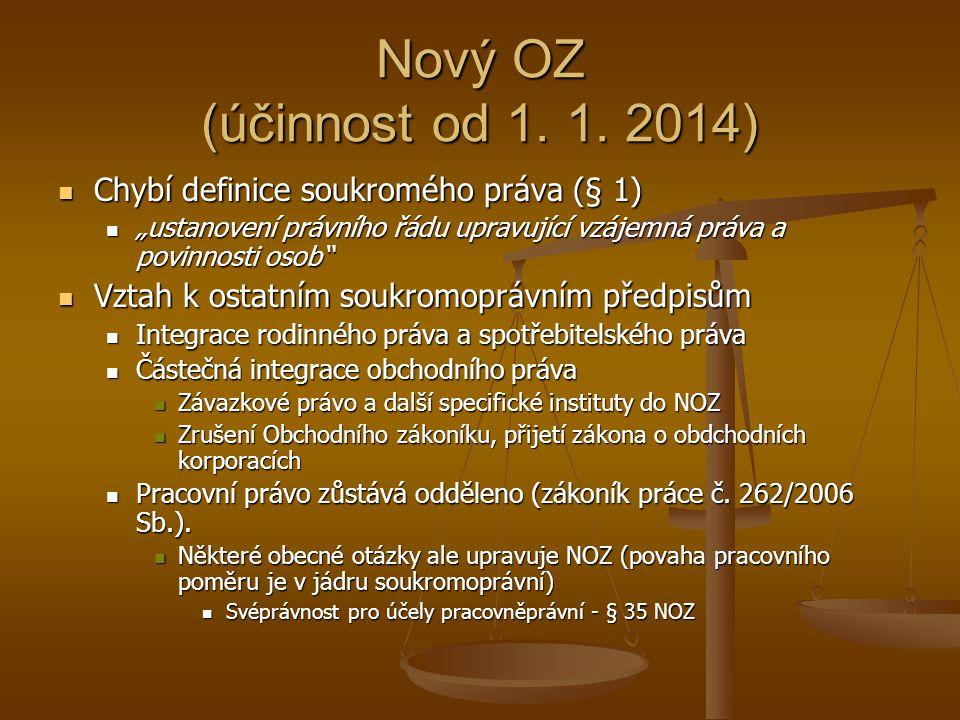Nový OZ (účinnost od 1.1.