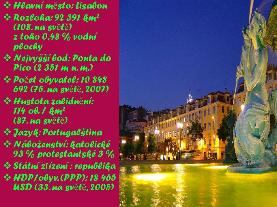 Portugalsko je evropskou zemí nacházející se v západní Č ásti Pyrynejského poloostrova.