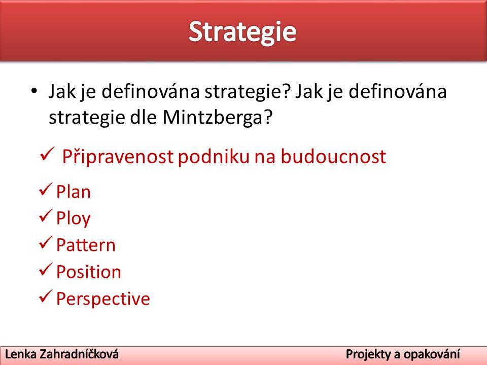 Jak je definována strategie. Jak je definována strategie dle Mintzberga.