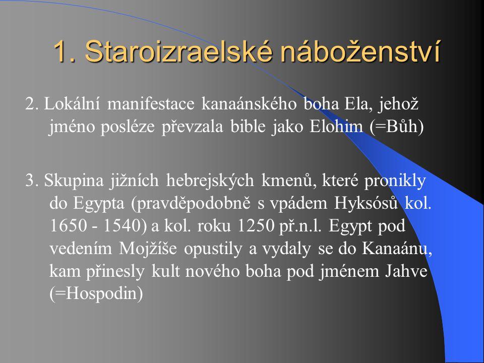 1. Staroizraelské náboženství 2. Lokální manifestace kanaánského boha Ela, jehož jméno posléze převzala bible jako Elohim (=Bůh) 3. Skupina jižních he