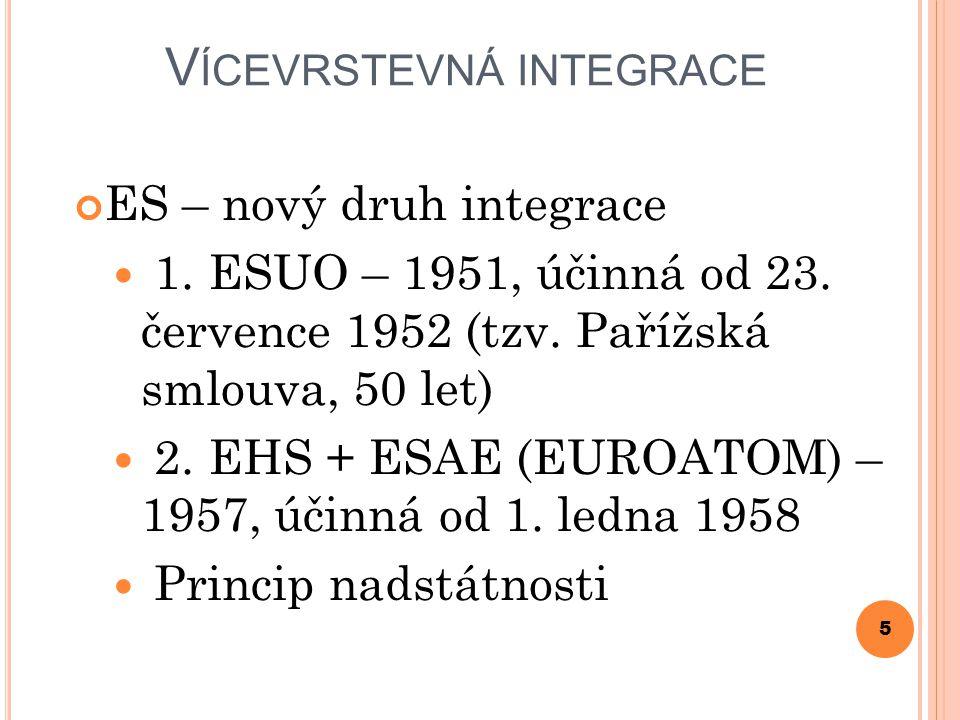 V ÍCEVRSTEVNÁ INTEGRACE ES – nový druh integrace 1.