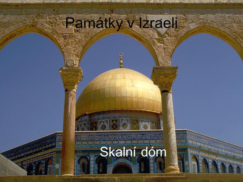 Památky v Izraeli JeruzalémPosvátný hrob Vchod ke Skalnímu dómu