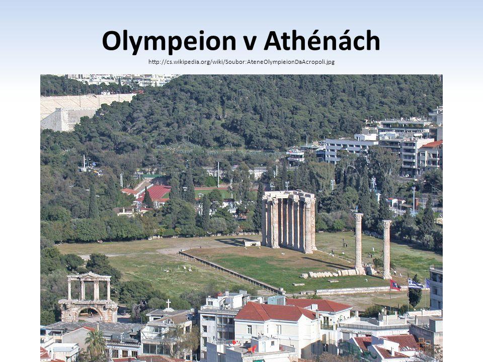 Olympeion v Athénách http://cs.wikipedia.org/wiki/Soubor:AteneOlympieionDaAcropoli.jpg