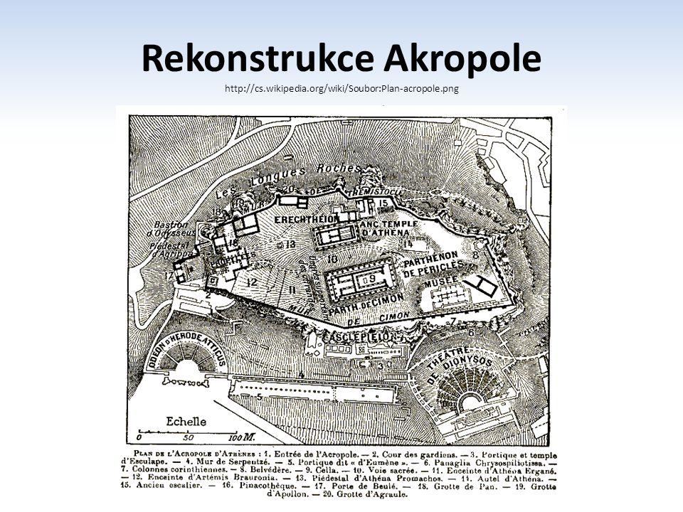 Rekonstrukce Akropole http://cs.wikipedia.org/wiki/Soubor:Plan-acropole.png