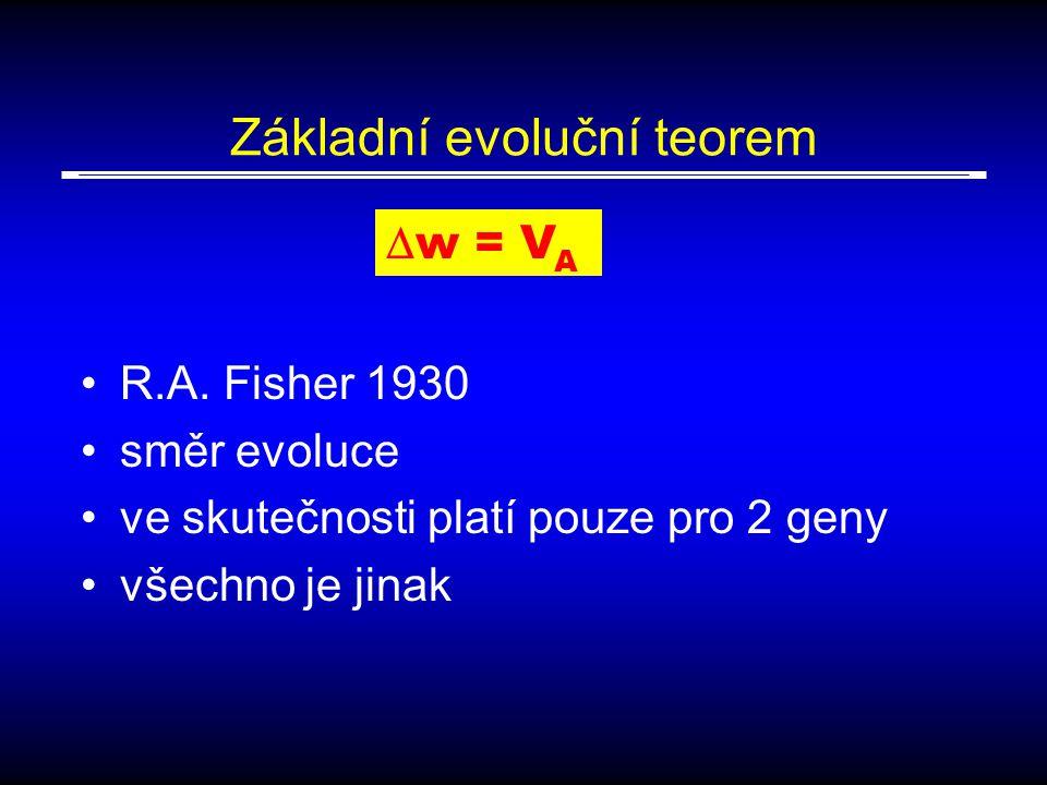 Základní evoluční teorem R.A.