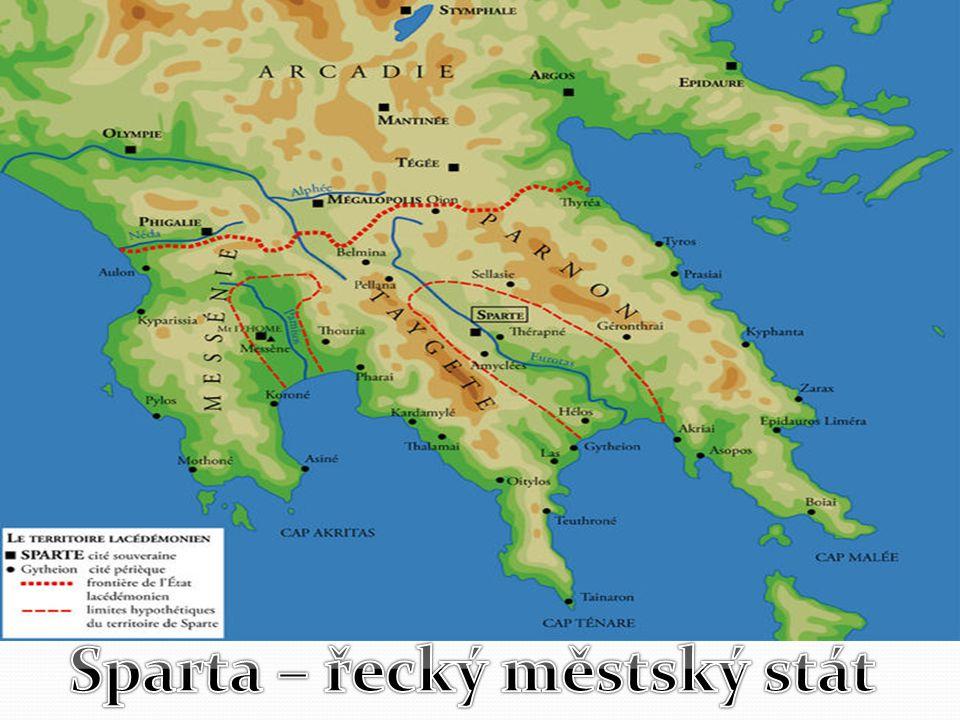 Poloha: Obyvatelé: Peloponéský poloostrov Kraj Lakónie Dórové