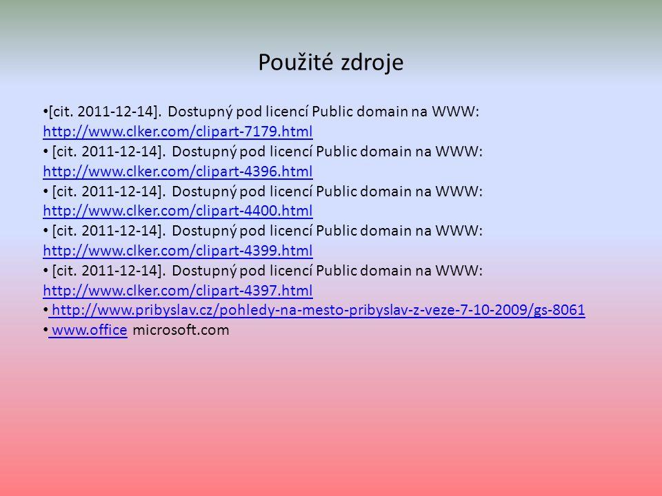 Použité zdroje [cit. 2011-12-14].
