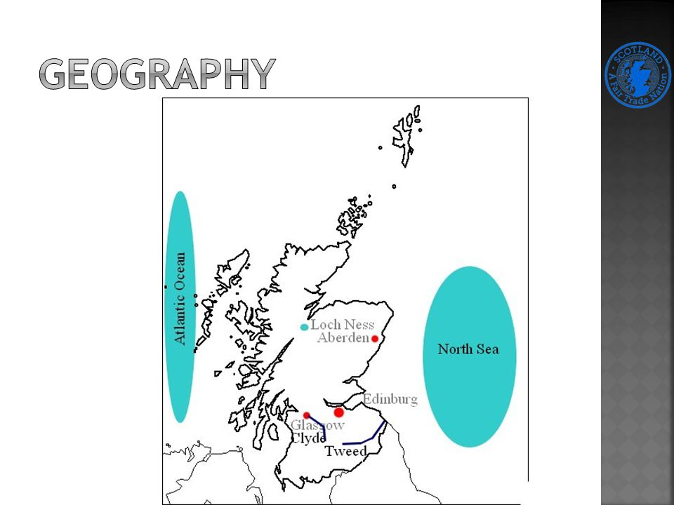 Discovers from Bronze Age, Stone Age and Iron Age The Romans try to conquer area of today Scotland Hadrian Wall -> protection againts Picts reids 8th century -> the Vikings – ocuppy Orkney and Shetlands 1707 – law of Union part of UK 18th-19th century -> industry revolution