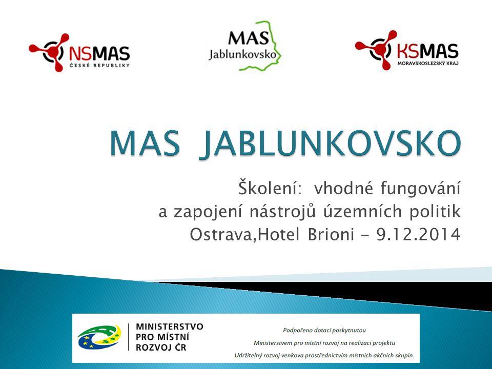 Školení: vhodné fungování a zapojení nástrojů územních politik Ostrava,Hotel Brioni - 9.12.2014