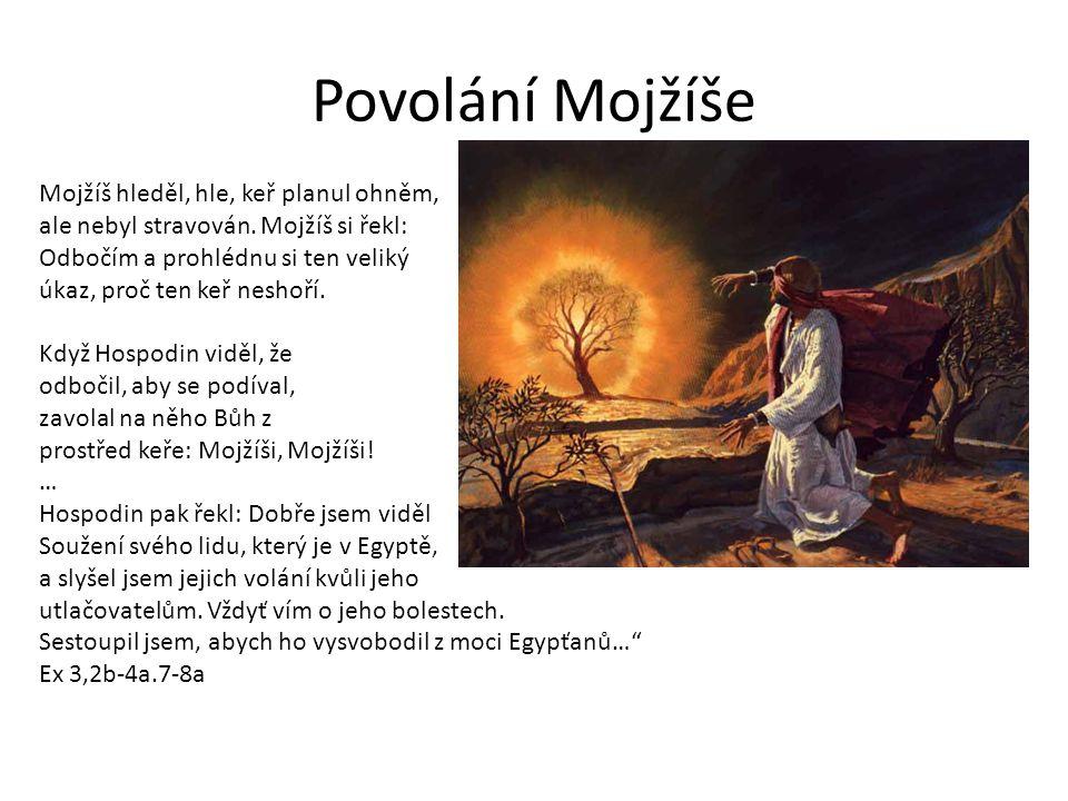 Povolání Mojžíše Mojžíš hleděl, hle, keř planul ohněm, ale nebyl stravován.