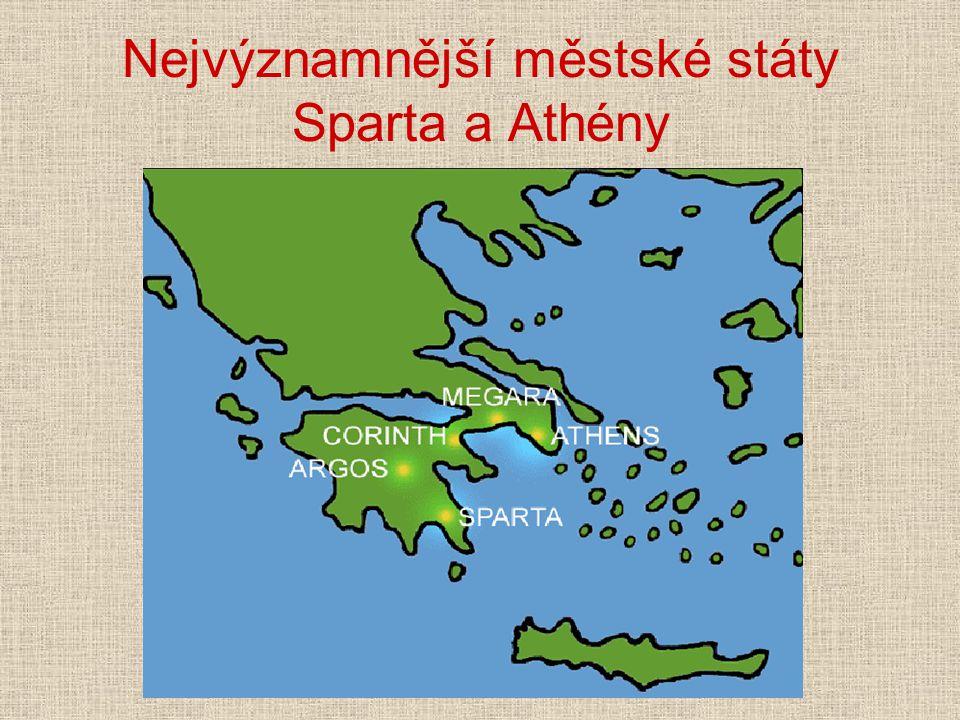 """Sparta Jihovýchodní část Peloponésu """"Lakónie Svobodní Sparťané se nazývali Lakedaimoňané"""