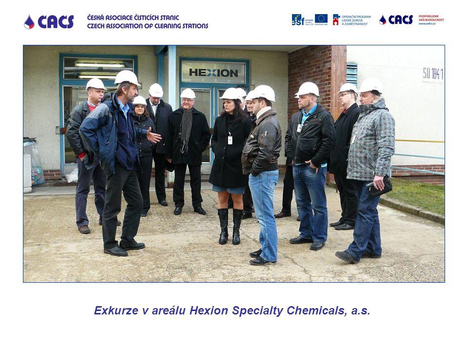 Exkurze v areálu Hexion Specialty Chemicals, a.s.