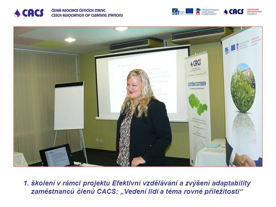 """1. školení v rámci projektu Efektivní vzdělávání a zvýšení adaptability zaměstnanců členů CACS: """"Vedení lidí a téma rovné příležitosti"""""""
