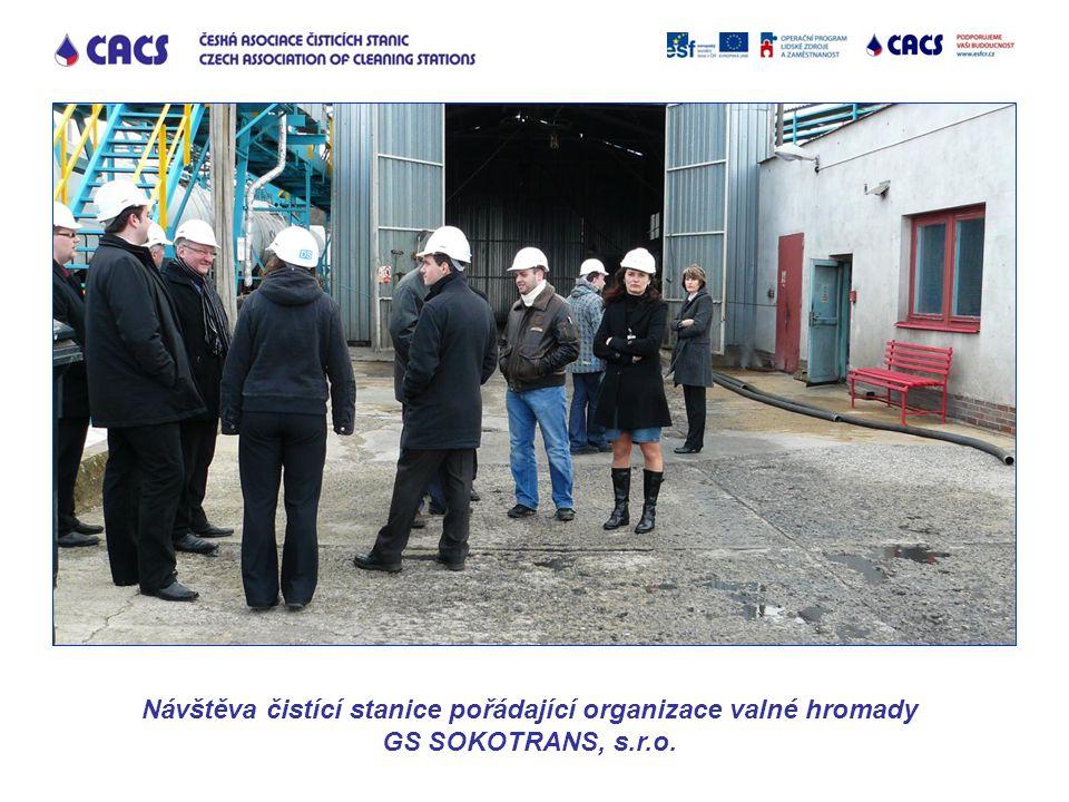 Návštěva čistící stanice pořádající organizace valné hromady GS SOKOTRANS, s.r.o.