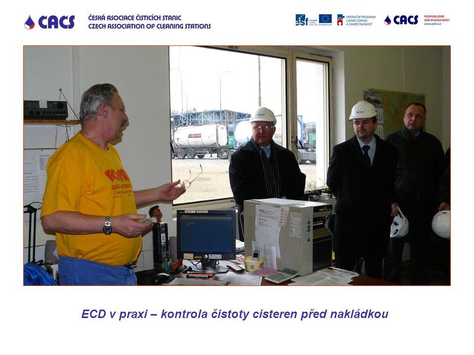 ECD v praxi – kontrola čistoty cisteren před nakládkou