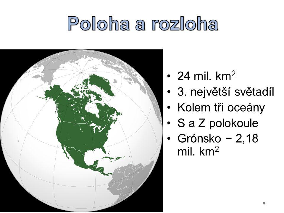 24 mil. km 2 3. největší světadíl Kolem tři oceány S a Z polokoule Grónsko − 2,18 mil. km 2 Gymnázium Teplice
