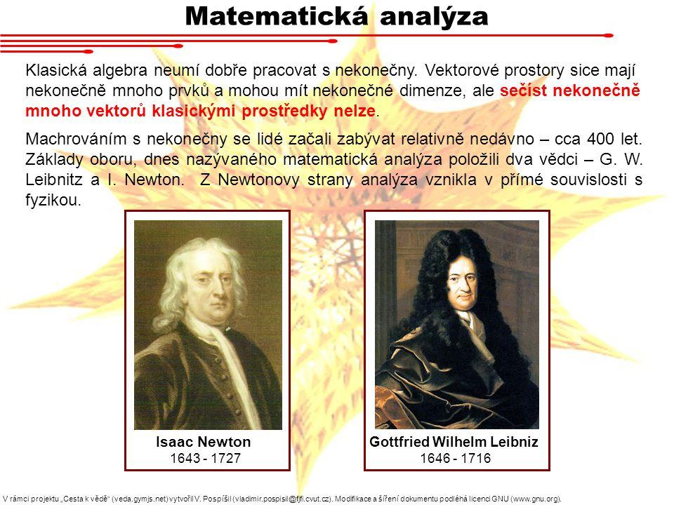 """Matematická analýza V rámci projektu """"Cesta k vědě (veda.gymjs.net) vytvořil V."""