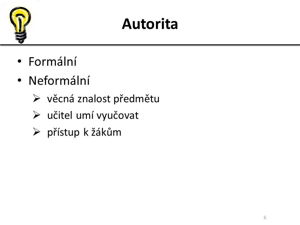 7 Analýza nevhodných řešení nekázně I Paní učitelka Horáková vysvětluje 30-ti žákům 4.