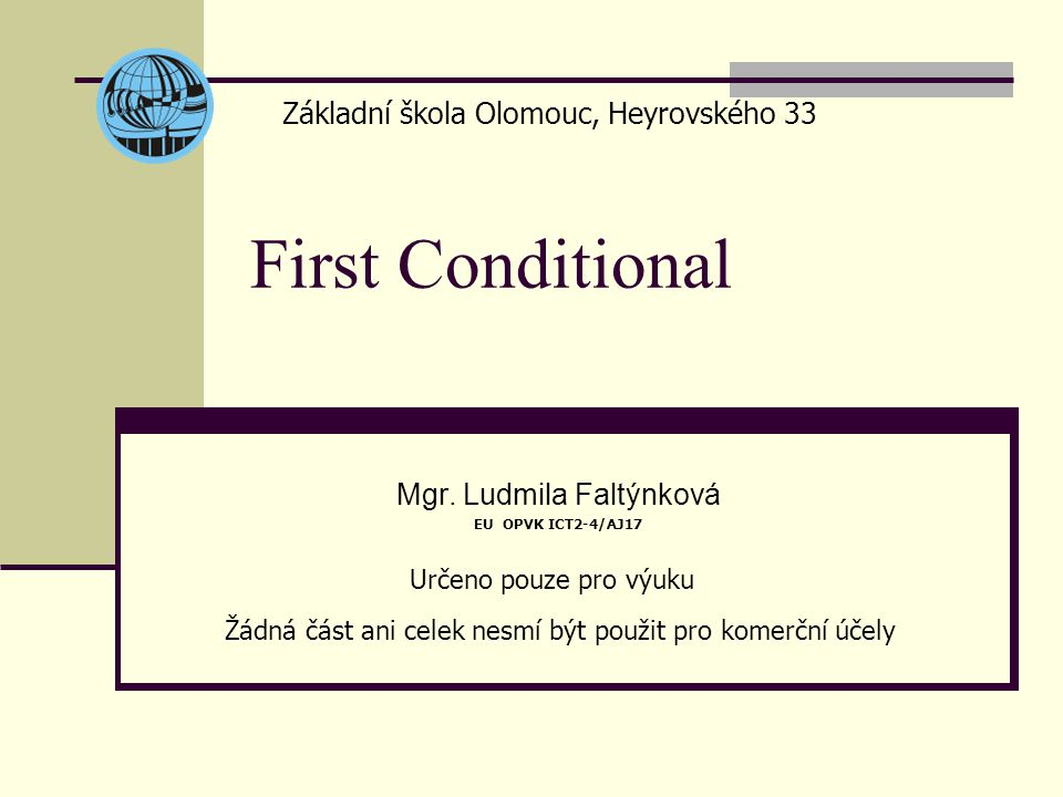 First Conditional Mgr.