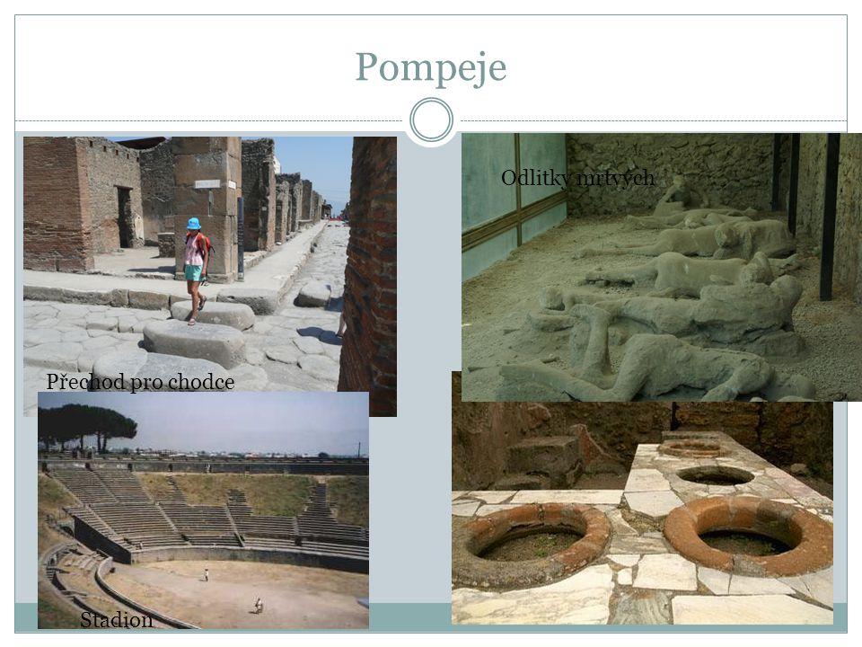 Pompeje Přechod pro chodce Odlitky mrtvých Stadion