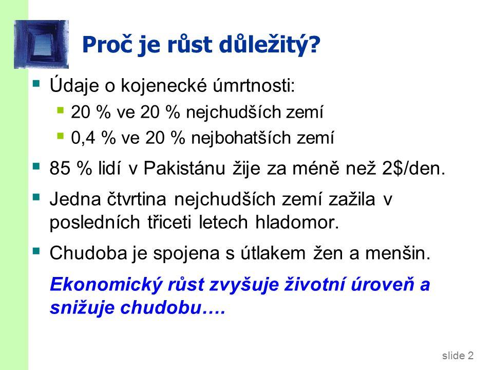 slide 2 Proč je růst důležitý.