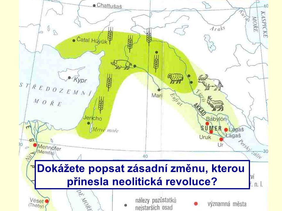 Dokážete popsat zásadní změnu, kterou přinesla neolitická revoluce?