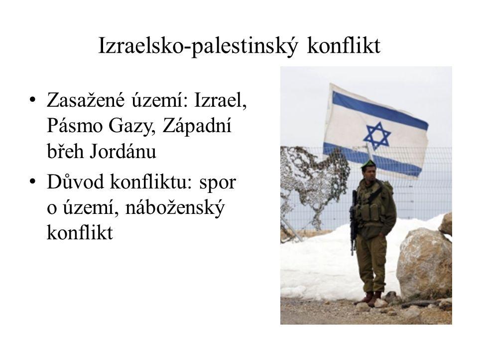 Zasažené území: Izrael, Pásmo Gazy, Západní břeh Jordánu Důvod konfliktu: spor o území, náboženský konflikt Izraelsko-palestinský konflikt